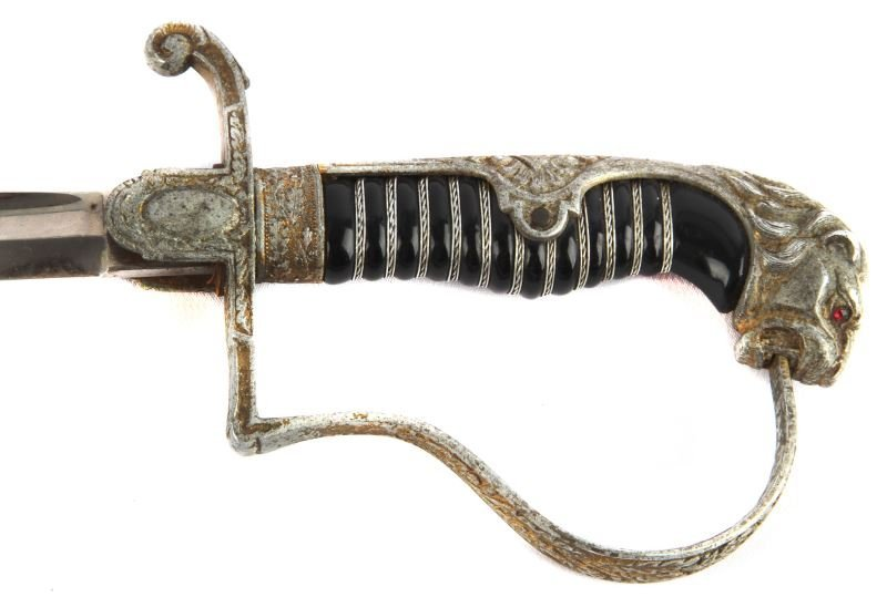 WWII GERMAN LIONS HEAD SWORD E F HORSTER - 4