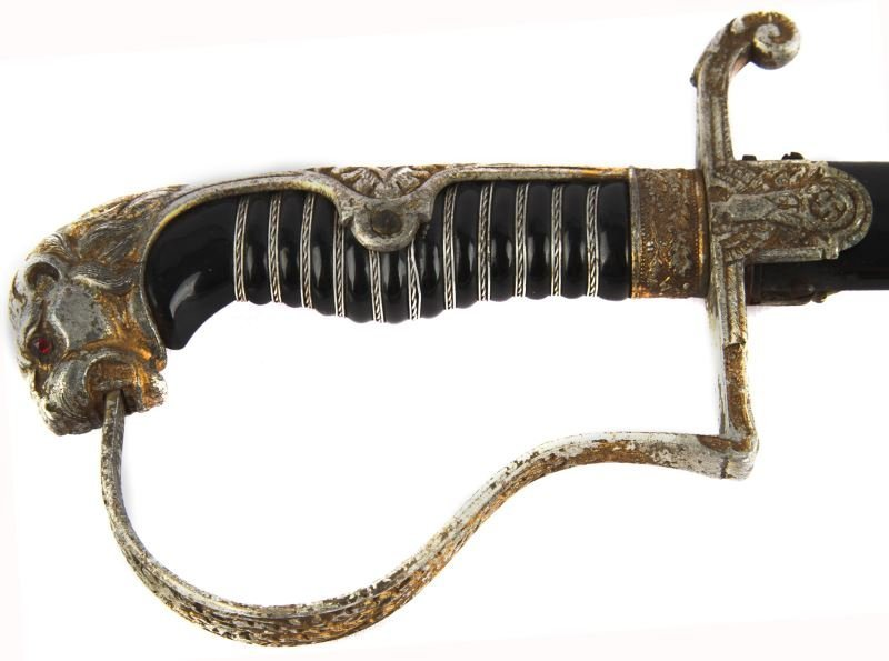 WWII GERMAN LIONS HEAD SWORD E F HORSTER - 5