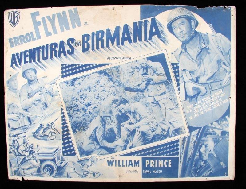 OBJECTIVE, BURMA! 1945 SPANISH MOVIE POSTER