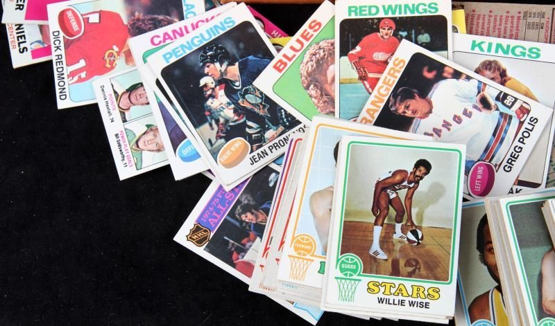 HUNDREDS UNSEARCHED 1970'S SPORT CARDS