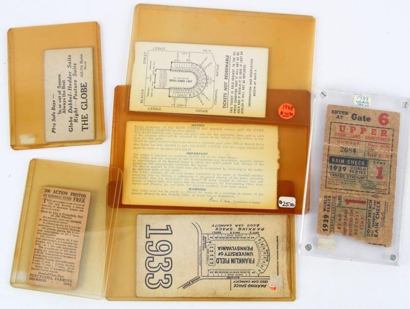 1939 WORLD SERIES 1933 ARMY NAVY & 1920'S BASEBALL