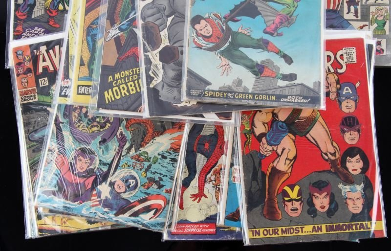 SILVER AGE AMAZING SPIDERMAN & AVENGERS COMIC LOT