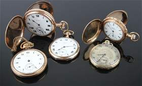 SMALL LOT MENS VINTAGE POCKET WATCHES