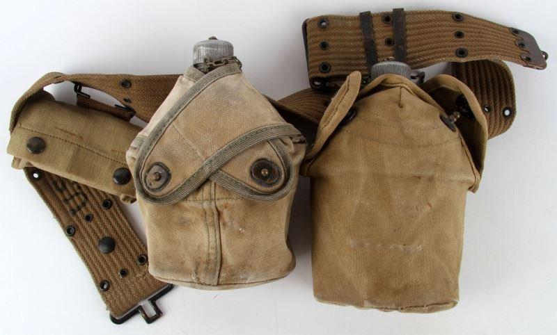 USMC CROSS OVER & 1918 CANTEEN WEB BELT & GEAR
