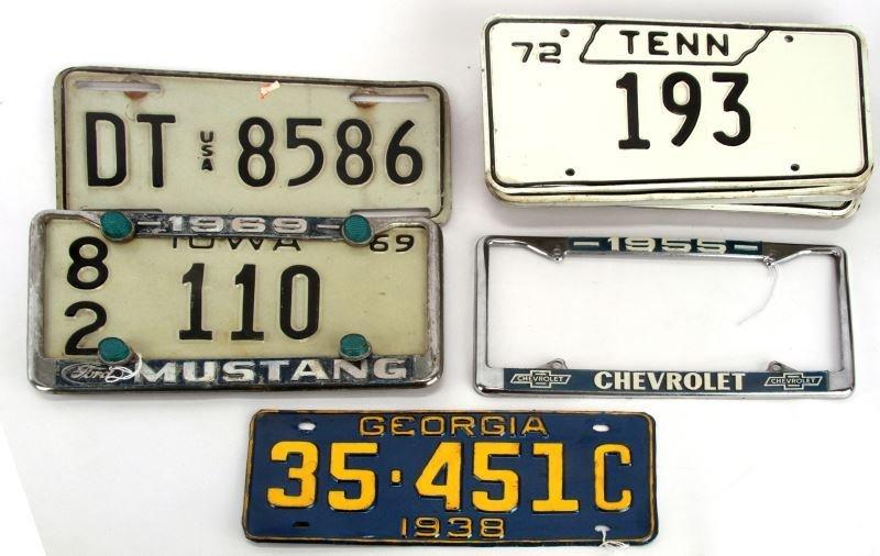 1938 -1970 GEORGIA IOWA TENNESSEE LICENSE TAG LOT