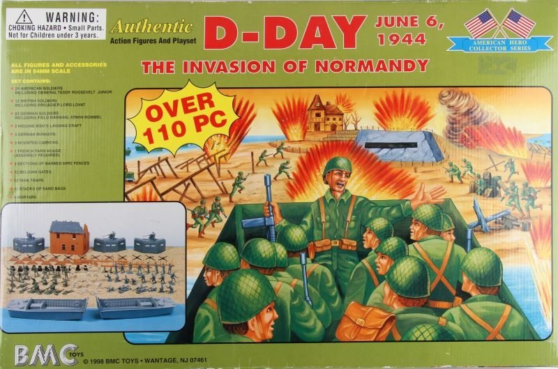 BMC TOYS D-DAY 110 PIECE 1998 MINT IN BOX PLAY SET