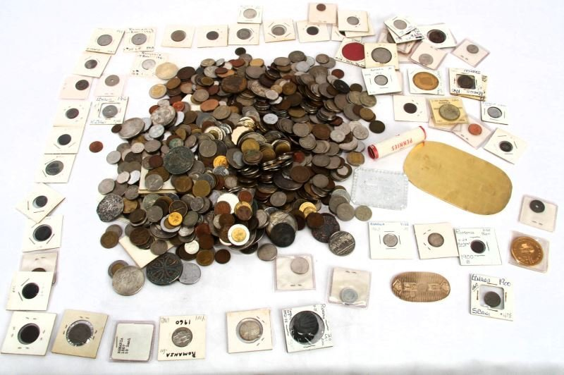 12 LBS OF UNSEARCHED WORLD COINS & NUMISMATICA