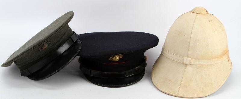 USMC 1892 CORK HELMET CHINA MARINE & WWII VISOR