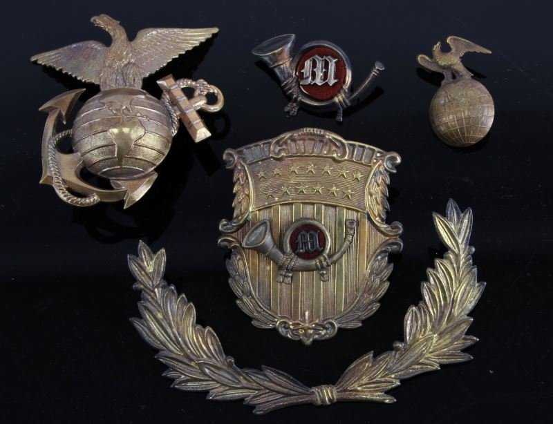 USMC CIVIL WAR TO INDIAN WAR MARINE INSIGNIA
