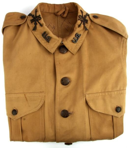 US SPANISH-AMERICAN WAR TUNIC BEIGE SHOULDERBOARDS