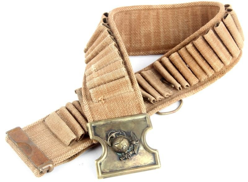 SPANISH AMERICAN WAR CARTRIDGE BELT USMC BUCKLE