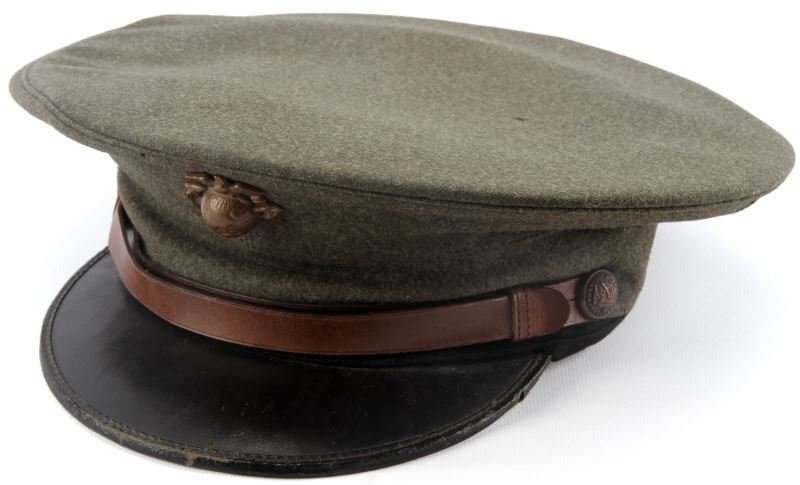 USMC ENLISTED VISOR WITH LARGE CUBA EGA