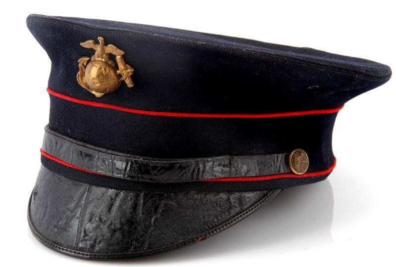 M1912 USMC MARINE BELL CROWN VISOR BLUE W EGA