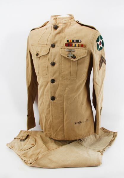 WWI USMC MARINE 2ND DIVISION TUNIC W INSIGNIA