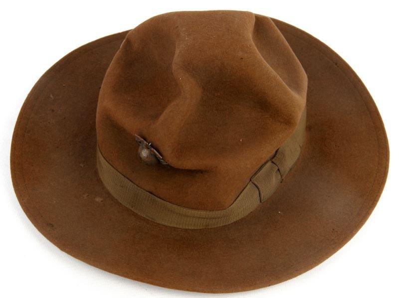 WWI 1918 USMC CAMPAIGN HAT WITH LAT/LON EGA DEVICE