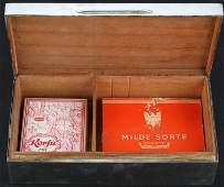 WWII SILVER CIGARETTE BOX WITH EB MONOGRAM & CIGS