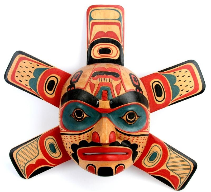 PACIFIC NORTHWEST NATIVE AMERICAN CARVED MASK