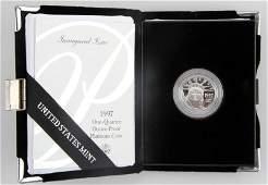 1997 PROOF PLATINUM AMERICAN EAGLE $25 1/4 OZ COIN