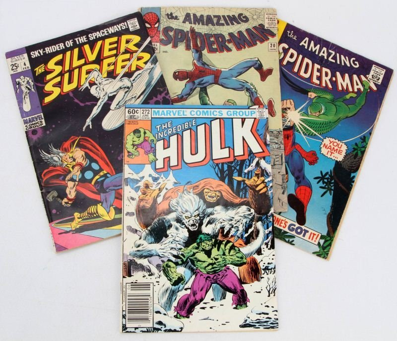SILVER- AND BRONZE-AGE MIXED COMIC BOOK LOT OF 4