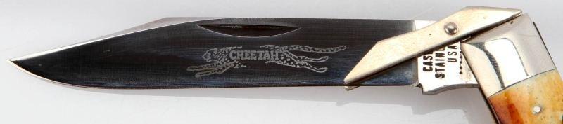 CASE XX 5111-1/2L SWING GUARD STAG CHEETAH KNIFE - 2