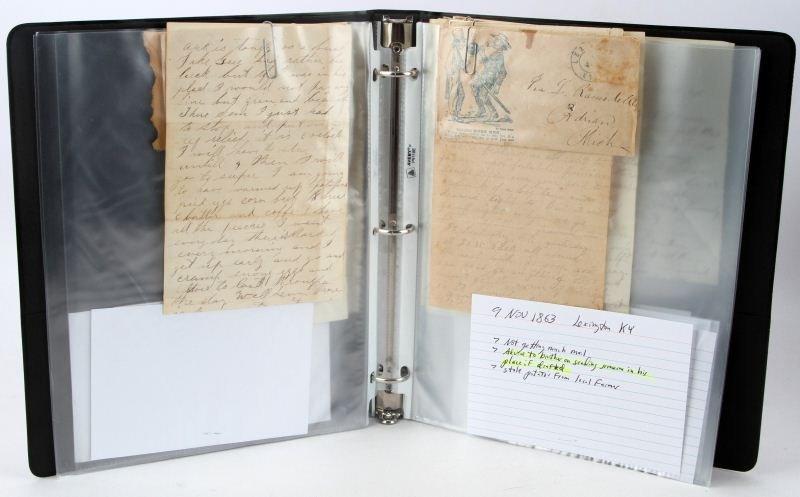 10 CIVIL WAR LETTERS WRITTEN BY C.W. RAMSDELL