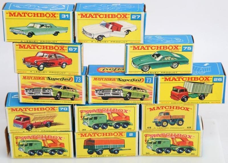 LESNEY MATCHBOX SERIES SET WITH ORIGINAL BOXES