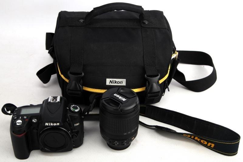 NIKON D90 DIGITAL CAMERA WITH VR LENS 18-105MM