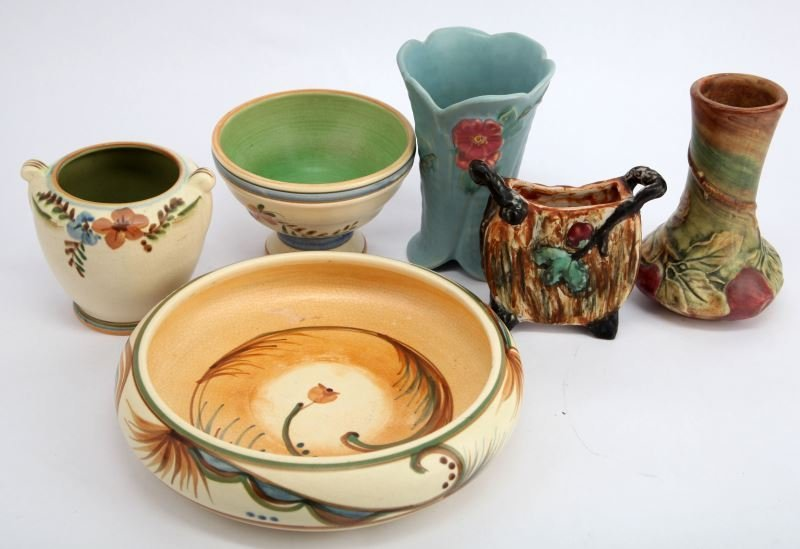 WELLER POTTERY MIXED PATTERN LOT OF 6