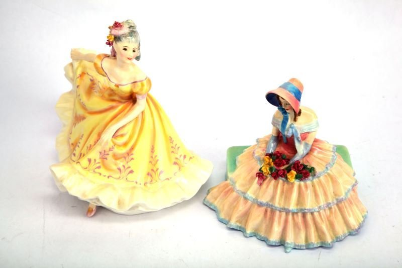 LOT OF TWO VINTAGE ROYAL DOULTON PORCELAIN DOLLS
