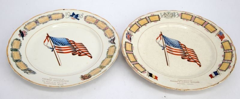 WWI CALENDER PLATES DATED 1918 AND 1919