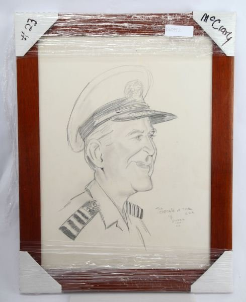 PENCIL SKETCH OF LEXINGTON CPT GORDON SNYDER