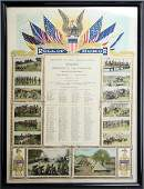 ROLL OF HONOR DOCUMENT FRAMED WITH PHOTOS