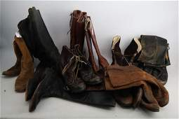 WWI WWII MILITARY BOOT LOT ALL QUALITY MOVIE PROPS