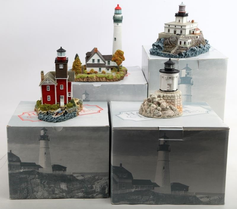 HARBOR LIGHTS LIGHTHOUSE LOT 4 DIFFERENT FIGURINES