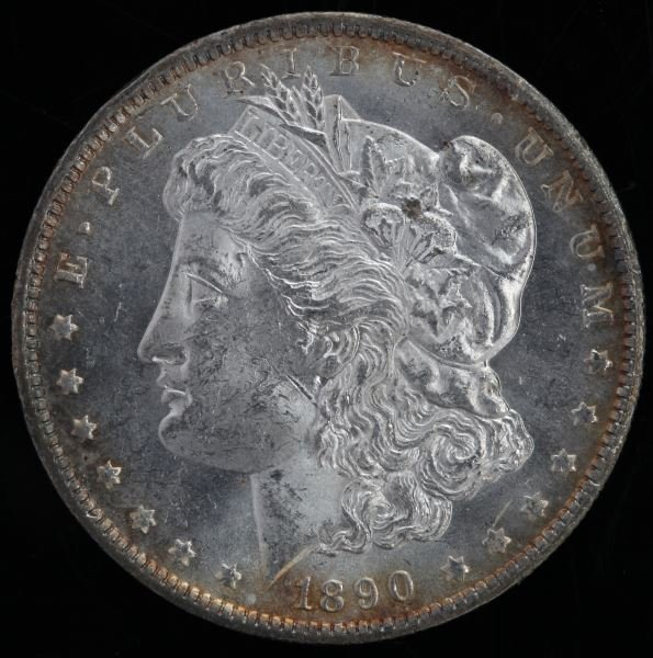 1890 O PROOFLIKE & TONED MORGAN SILVER DOLLAR MS64