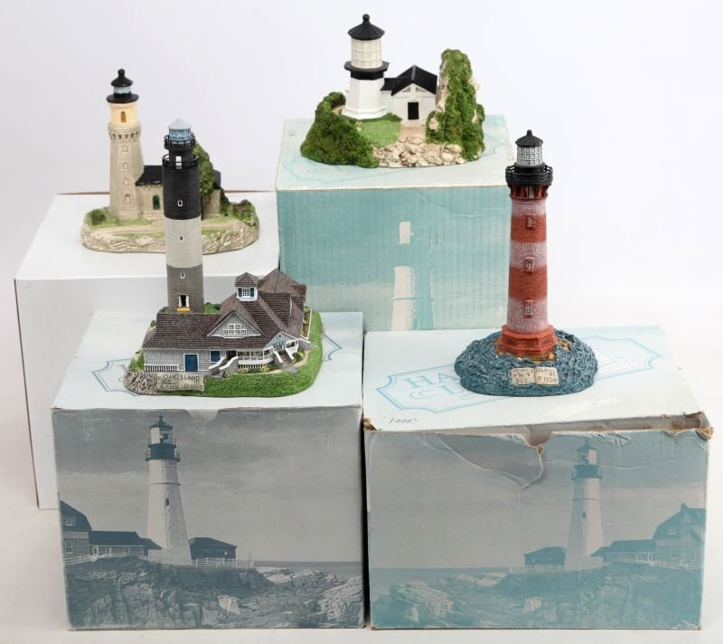 HARBOUR LIGHTS LIGHTHOUSE LOT OF 4 FIGURINES