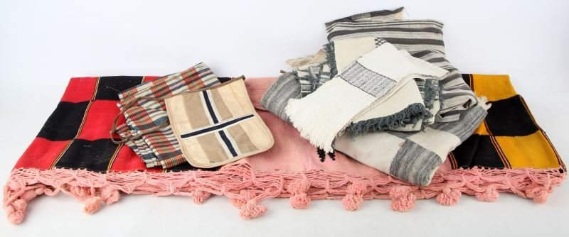 GROUPING OF SIERRA LEONE VINTAGE FABRICS AND ITEMS