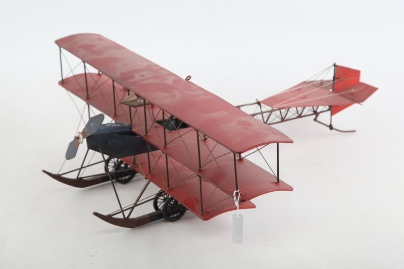 POTTERY BARN METAL TRI WING AIRPLANE TOY