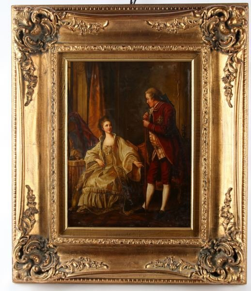 REPRODUCTION OIL ON BOARD PAINTING OF NOBILITY