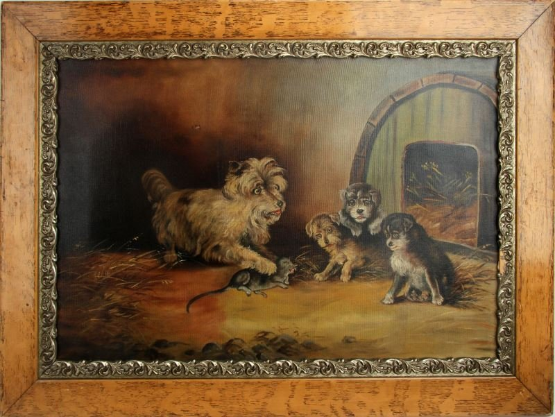 YORKSHIRE TERRIER AND HER PUPS (AFTER ARMFIELD)
