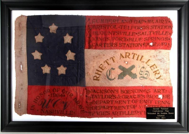 1904 UCV CONFEDERATE VETERANS RHETT ARTILLERY FLAG