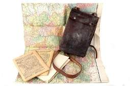 WWI MAP CASE NAMED ADMIRAL CHARLES S STEPHENSON