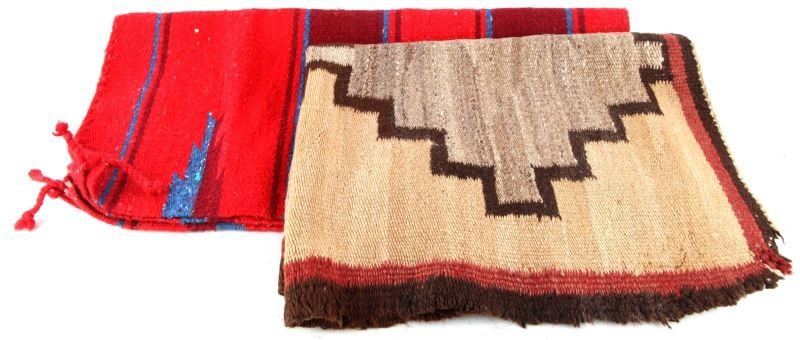 NATIVE AMERICAN INDIAN WOVEN WOOL SADDLE BLANKETS