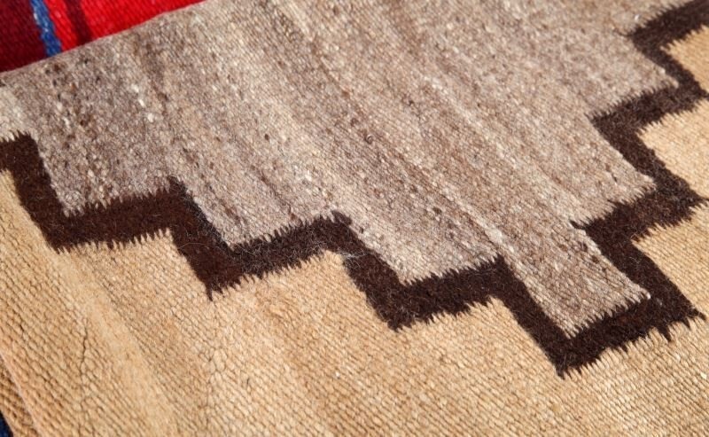 NATIVE AMERICAN INDIAN WOVEN WOOL SADDLE BLANKETS - 2