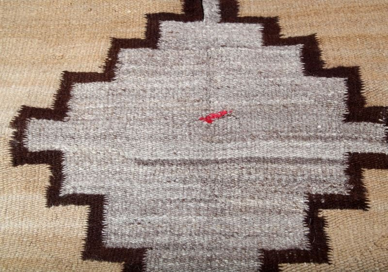 NATIVE AMERICAN INDIAN WOVEN WOOL SADDLE BLANKETS - 4