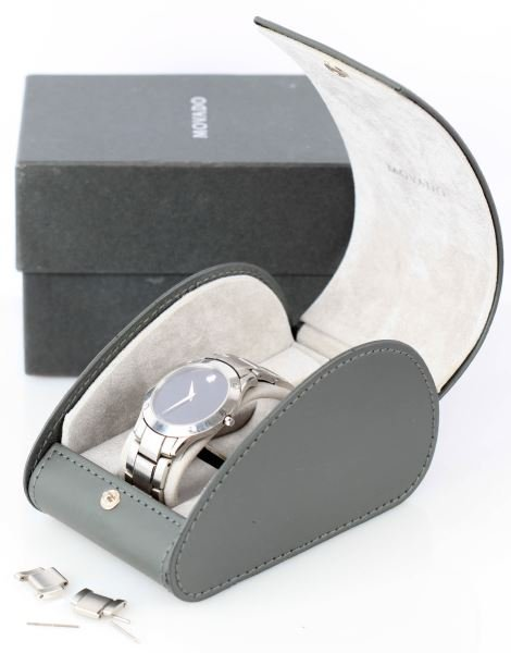 MENS MOVADO WRISTWATCH STAINLESS STEEL 84-G1-885
