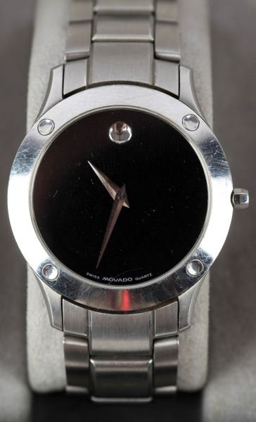 MENS MOVADO WRISTWATCH STAINLESS STEEL 84-G1-885 - 2