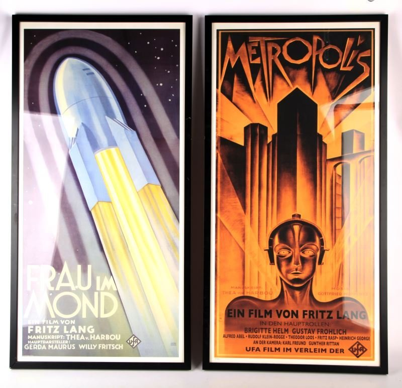 FRITZ LANG MOVIE POSTERS REPRO FRAMED