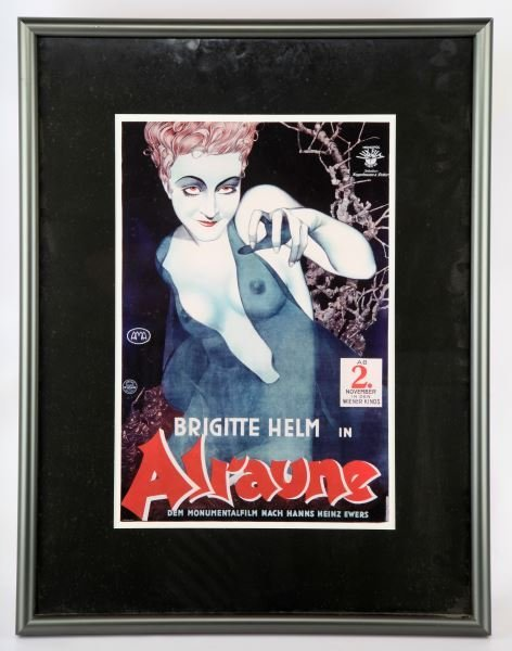 ALRAUNE MOVIE POSTER REPRO FRAMED 1927