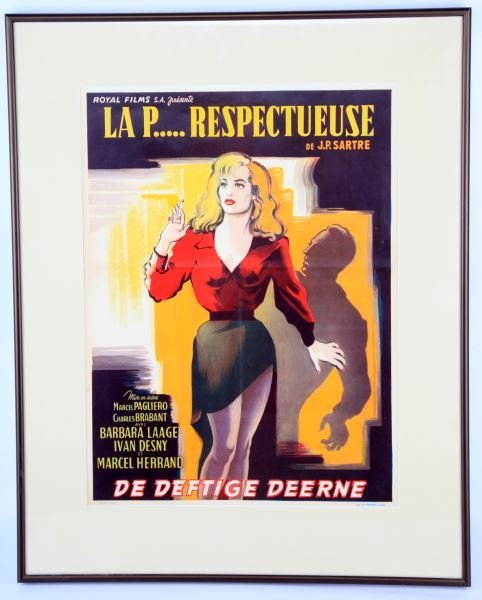 LA PUTAIN RESPECTUEUSE 1952 MOVIE POSTER